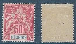 REUNION Groupe N°42* Légère Trace De Charnière - Réunion (1852-1975)