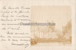 CARTE PHOTO ALLEMANDE CHAMONIX 1902 MONUMENT SAUSSURE HOTEL D'ANGLETERRE - Chamonix-Mont-Blanc