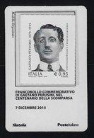 """2015 ITALIA REPUBBLICA """"CENTENARIO SCOMPARSA GAETANO PERUSINI"""" TESSERA FILATELICA - 6. 1946-.. Republic"""