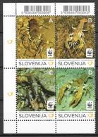 Slovenia 2011 Mi.No. MiNr. 636 - 639  Slowenien WWF Stone Crayfish  4v   MNH** 3,00 € - Unused Stamps