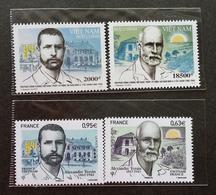 France Vietnam Joint Issue Alexandre Yersin 1863-1943 2013 (stamp Pair) MNH - France