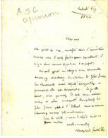 THEOPHILE GAUTIER Ecrivain Lettre Autographe Signee à Edmond ABOUT , 1866 - Autographes