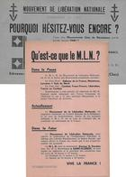 Tract M.L.N. Mouvement De Libération Nationale - 1945 St Florent (18) Politique - Pas Carte Postale - - Non Classés