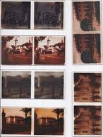 PARIS - Exposition Coloniale - 60 Plaques De Verre Stéréo Format 42 X 105 Mm Dans Boîte Rangement En Bois 15 X 19 X 7 Cm - Diapositivas De Vidrio