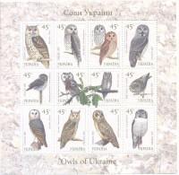 2003. Ukraine, Birds, Owls, Sheetlet, Mint/** - Ucraina