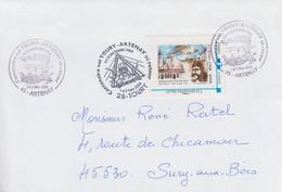 Enveloppe   FRANCE    Centenaire  Vol  Aérien   TOURY - ARTENAY  Et  Retour   2008 - Personnalisés (MonTimbraMoi)