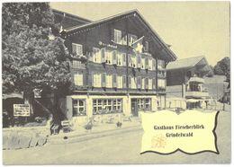 Dépliant GRINDELWALD GASTHAUS FIESCHERBLICK - Familie U. Brawand-Hofmann , Besitzer - BE Berne