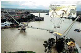 30A: CM,Carte Maximum Card,Kuching Golden Bridge, Maxi Card, MC - Bridges