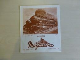 Locomotive, Biscottes Magdeleine Ref 1768 ; BU 03 - Transports