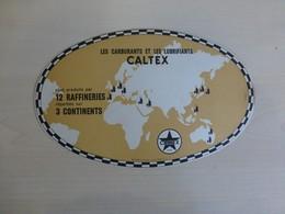 CALTEX Lubrifiants, Buvard Ovale (RUGBY ?)  à Tirage Limité Ref 1772 ; BU 03 - Macchina