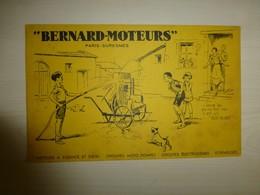 Suresnes, Bernard-Moteurs, Buvard Illustré (pompe) Ref 1777 ; BU 02A - Carte Assorbenti