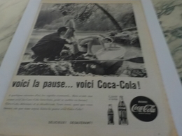 ANCIENNE PUBLICITE VOICI LA PAUSE KAYAK  COCA COLA 1960 - Afiches Publicitarios