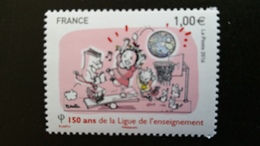 France Timbre NEUF N° 5072 - Année 2016 - 150e Anniversaire De La Ligue De L'enseignement - Francia