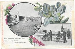 PARIS : EXPO 1900 - LA SEINE VUE DU PONT D'IENA - France