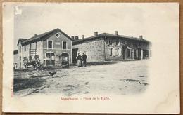 CP MONTFAUCON ( D'ARGONNE ) Place De La Halle - Sonstige Gemeinden