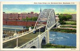 MANCHESTER , N.H. - Notre Dame Bridge Over Merrimack River - Manchester