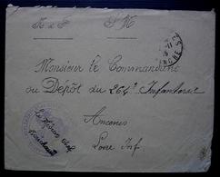 Coutances 1915 Hôpital Complémentaire N° 49, Signée Du Médecin Chef Rouchaud - Guerre De 1914-18
