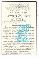 DP Severin Cornette ° Hooglede 1856 † Langemark 1941 X Elise V. Hulet - Devotion Images