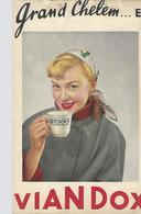 Pub Viandox-carnet De Marque Grand Chelem-tarot-1955 - Tarots