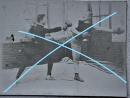 Photo X2 Circa Begin 1900 BOXE Française Savatte Box Boxing Boxeur Boxeurs Boxen Boxer - Sports