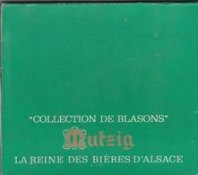 COLLECTION DE 30 BLASONS SUR CAPSULES DE BIERE MUTZIG. - Bière