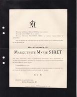 SCHAERBEEK BRUXELLES SIRET Marguerite-Marie 1848-1915 Familles HANSSENS Et CAPIAUMONT - Décès