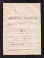 LOUVAIN Marie CELS épouse Adolphe SIRET Commissaire D'arrondissement De Saint-Nicolas 1876 52 Ans - Décès