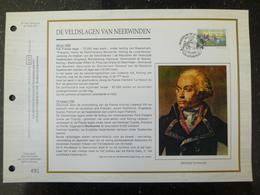 """BELG.1993 2493 : """" DE VELDSLAGEN VAN NEERWINDE """" Filatelistische Kaart Zijde NL.(CEF), Gelimiteerde Oplage - FDC"""