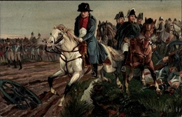Artiste Cp Napoleon Bonaparte, Kaiser Napoleon I., Nach Der Schlacht Bei Leipzig 1813 - Personnages Historiques