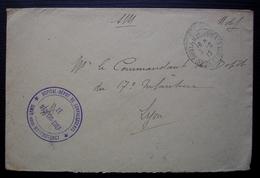 Soisy Sous Montmorency 1915 Hôpital-dépôt De Convalescents, Le Médecin Chef - Postmark Collection (Covers)