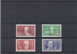 France - Yvert 330 / 3 ** - Berlioz - Callot - Victor Hugo - Louis Pasteur - Valeur 70 Euros - Nuovi