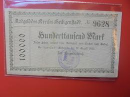 EICHSFELD 100.000 MARK 1923 CIRCULER (B.12) - [ 3] 1918-1933 : República De Weimar