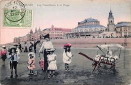Belgique - Ostende - Les Travailleurs à La Plage - Edit - Hohhmann N° 5376 Couleurs - Oostende