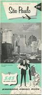 SAS Scandinavian Airlines System - Städte-Porträt Sao Paulo - Faltblatt - Advertising