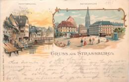 France - 67 - Stasbourg - Litho Kunzli N° 771 - Gruss Aus Strassburg - Straatsburg