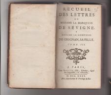 Mme De Sévigné 1735 - Books, Magazines, Comics