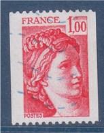 = Sabine De Gandon Roulette 1.00 Rouge Oblitéré N°1981 - Rollo De Sellos