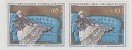 """FRANCE 1962 MANET Paire Timbres """" Mme Manet Au Canapé Bleu"""" N° YT 1364 - France"""