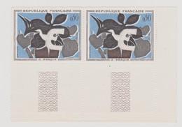 FRANCE 1961 N°YT 1319 BRAQUE Le Messager Paire De Timbres Impeccable Sans Charnière Bord De Feuille - France