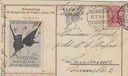 Leipzig - Weltausstellung Für Das Buchgewerbe & Grafik - Vignette & Sonderstempel - 1914       (A-213-200108) - Esposizioni