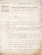 1810 THIERS - Location Des Places SOUS LA HALLE & MARCHéS - Signature Autographe Du Sous-Préfet De THIERS - Documents Historiques