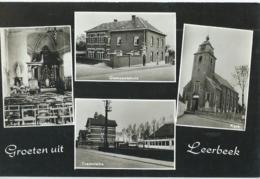 Leerbeek - Groeten Uit Leerbeek - Tramstatie - Gemeentehuis - Kerk - Gooik