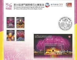 Technical Data - NO STAMP - 30th Macau International Fireworks Display - 30/08/2019 - 1999-... Région Administrative Chinoise