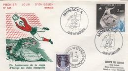 FOOT - L8 - MONACO N° 1275 Football Sur FDC Avec Cachet Du Conseil De L'Europe - FDC