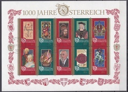 Ku_ Österreich 1996 - Mi.Nr. Block 12 - Gestempelt Used - Blocks & Sheetlets & Panes