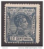 GUI50-LAB067TEUESPCOLGUI.Guinee .GUINEA ESPAÑOLA .Alfonso Xlll.1907 (Ed 50**) Sin Charnela.MAGNIFICO - Guinea Española