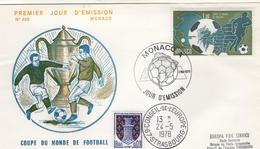FOOT - L10 - MONACO N° 1138 Coupe Du Monde De Football Sur FDC Avec Cachet Du Conseil De L'Europe - FDC