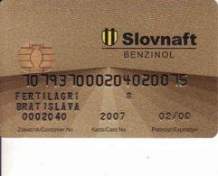 Transport Chip + Magnetic Card Slovnaft Benzinol, Pump - Tank Card Slovnaft Benzinol Slovakia - Moteurs