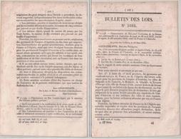 LA POSTE - BULLETIN DES LOIS N°1084 - CONVENTION DE POSTE ENTRE LA FRANCE ET L'AUTRICHE - 20 MARS 1844. - Décrets & Lois