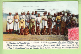 FINKE RIVER, Australia : Aborigines. Aborigènes. 2 Scans. The Ellenbee Colonial Series 503 - Aborigenes